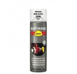 bezbarwny lakier farba spray rust oleum 2500 hard hat bezbarwna spraye do metalu na metal polprzezroczysty