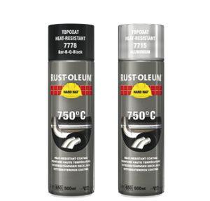 farba termoodporna żaroodporna spray odporny na wysokie temperatury rust oleum hard hat 7778 7715 do wysokich temperatur aerozol