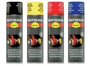 farby w sprayu hard hat rust oleum 2100 lakiery przemysłowe