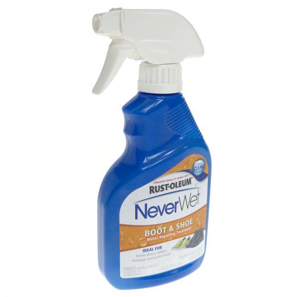 Farba hydrofobowa Neverwet Rust-Oleum spray hydrofobowy powłoka hydrofobowa powłoka odpychająca wodę farba odpychająca wodę powłoka superhydrofobowa powłoki odpychające wodę neverwet rust oleum obuwie buty