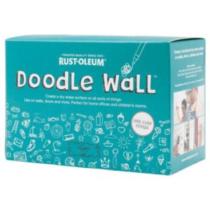 farba suchościeralna do tablicy do pisania biała bezbarwna rysowania pisakami markerami tablicowa doodle wall rust oleum